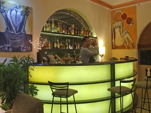 The Gallery Bar at the corner of 12th and 19th, Vedado.