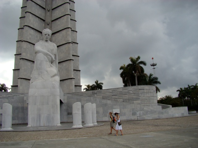 Jose Marti in the Plaza of the Revolution, Havana, Cuba. Photo: MJPorter