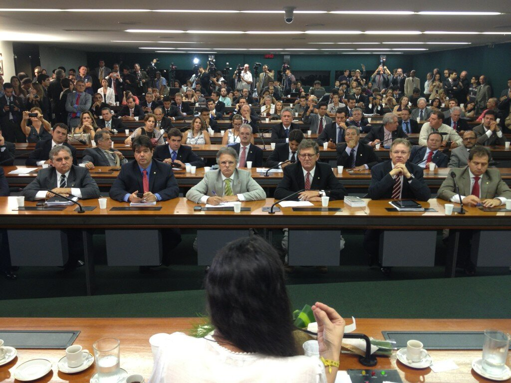 Yoani speaking to the Brazilian senate