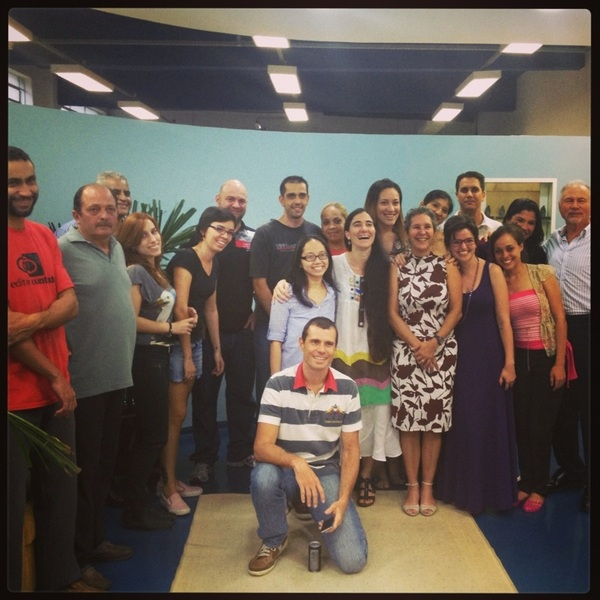 With staff at Contexto Publishers