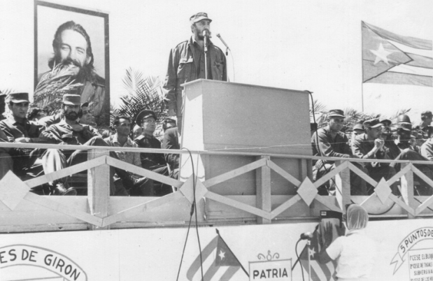 Castro, delivering a speech in 1963.