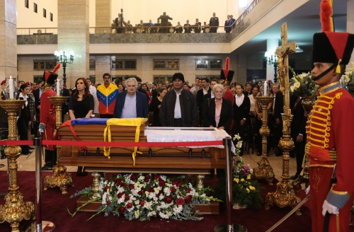 Chavez funeral, 8 March 2013. Photo: Wikimedia commons