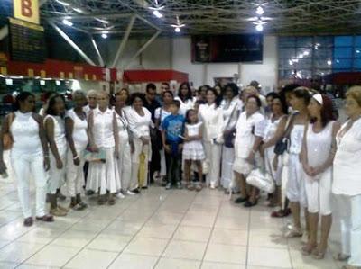 Damas de Blanco despedida en la habana