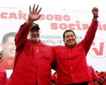 Mario Silva and Hugo Chavez