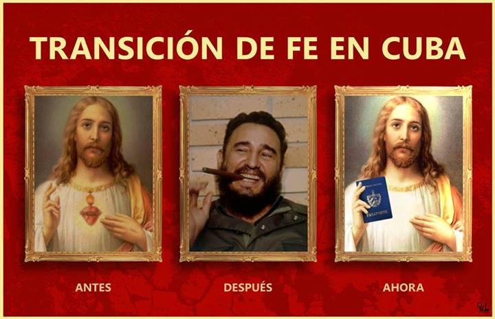 Transition of Faith in Cuba. Poster: Rolando Pulido