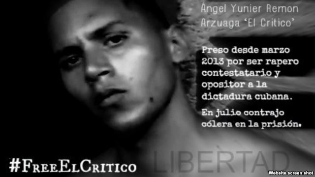 Free Critico poster created by his supporters during his hunger strike.
