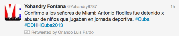 """Yohandry"" is a creation of the regime: ""I confirm to the gentlemen in Miami: Antonio Rodiles was arrested for abusing children who were playing on a sports day."""
