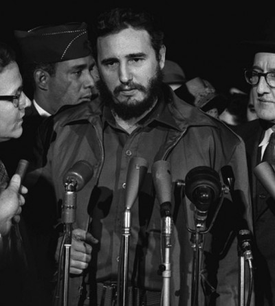 Fidel Castro arrives MATS Terminal, Washington, D.C. 1959. Photo: Wikimedia Commons.