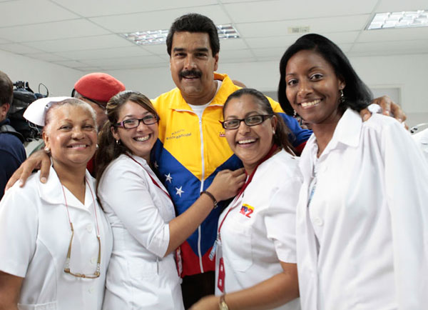 Nicolás Maduro has used the Barrio Alto program to win followers in the hills and villages in the jungle.