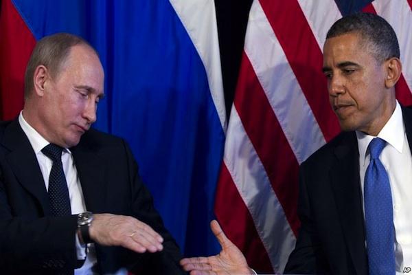 Obama and Putin, Mexico 2012