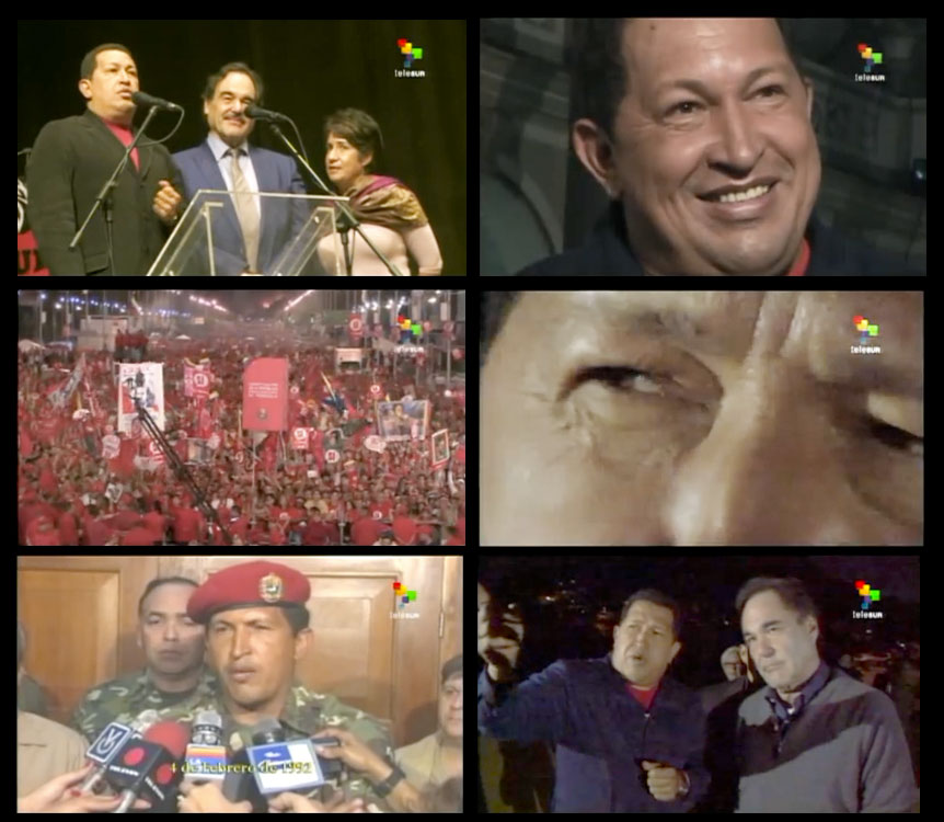 Scenes from Oliver Stone's new documentary 'Mi Amigo Hugo.' Photo: Created by Sampsonia Way via YouTube.