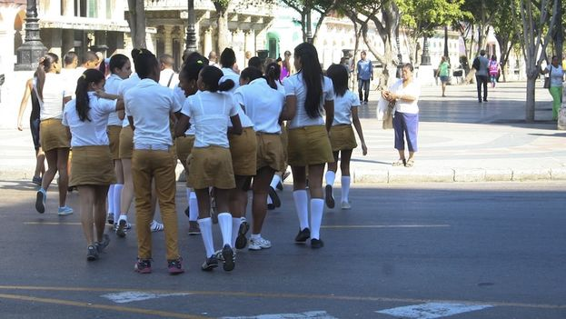 School uniforms. Photo: Luz Escobar