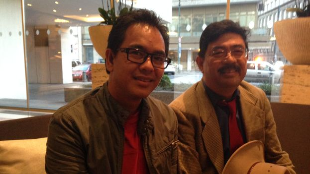 The Burmese activists Nay Phone Latt (left) and Soe Aung (right). (14ymedio)