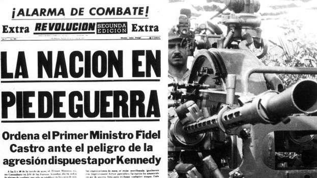 """The Nation On the Brink of War"" -- The Missile Crisis referred to in the official Cuban press."