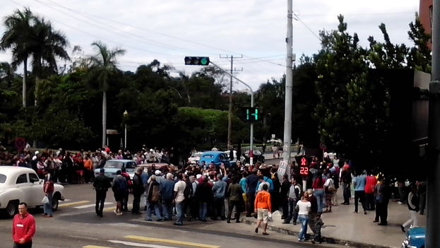Gathering in Havana on Human Rights Day. (14ymedio)