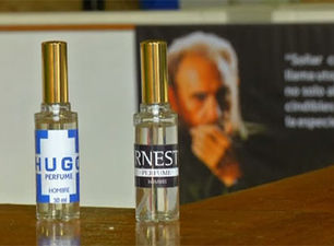The perfumes Hugo and Ernesto