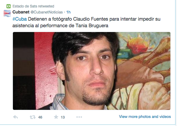 Claudio Fuentes arrested to prevent his attending Tania Bruguera's performance