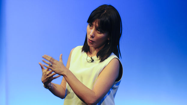 Wendy Guerra at a conference at the Casa de America, Madrid