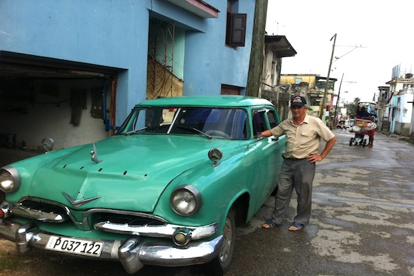 Agustín Godínez and his 1955 Dodge (Photo by the Author)