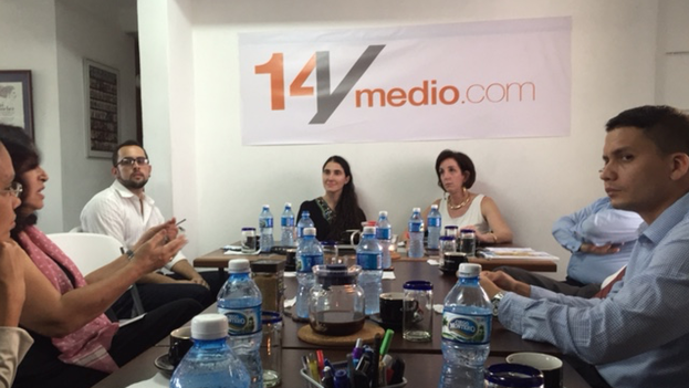 Roberta Jacobson at 14ymedio's offices