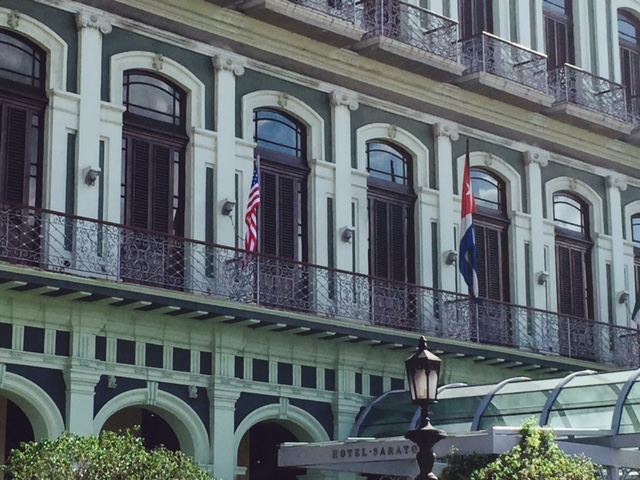 The Hotel Saratoga in Havana