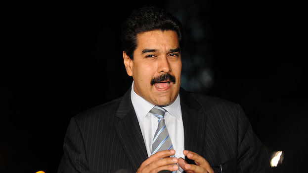 Nicolas Maduro talking to the press (File photo)
