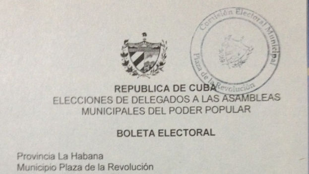 Ballot for Election of the Municipal Assemblies of People's Power (Photo: Yoani Sánchez)
