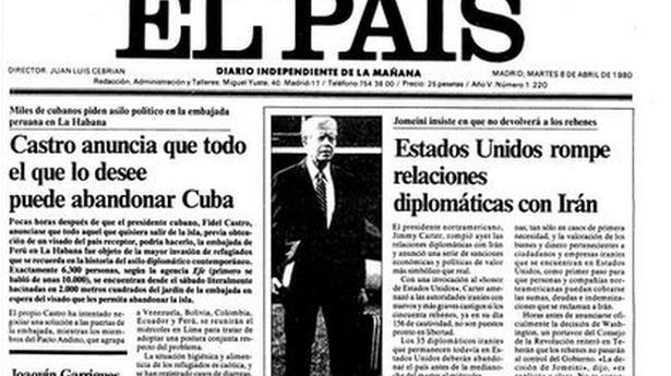 "On April 8 the front page of the Spanish newspaper ""El Pais"" headlined the events in Havana"