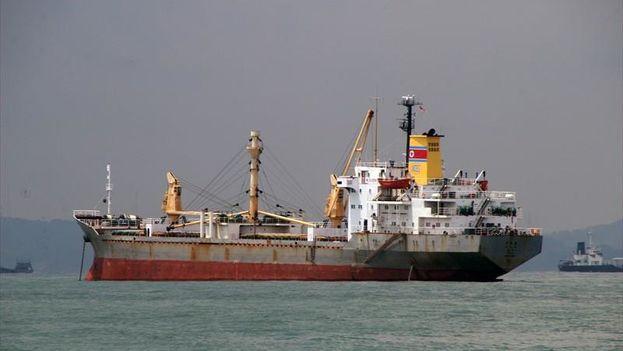 The North Korean ship Mu Du Bong. (John Wrightson / Marinetraffic)