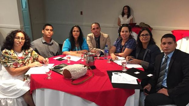Several activists of Cuban civil society at the 2nd Youth and Democracy Regional Forum (14ymedio)