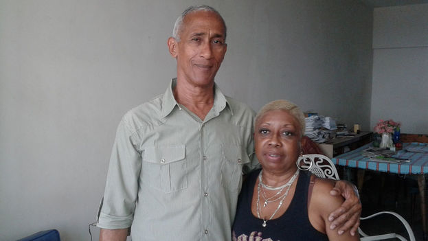 Hildebrando Chaviano and his wife Susana Mas (14ymedio)