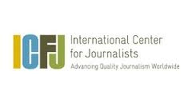 Logo of the International Center for Journalists