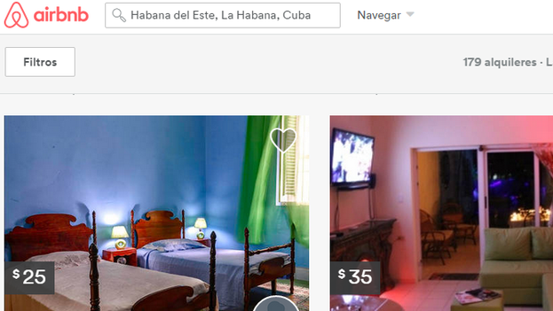 Airbnb website offers private accommodation all over the world.