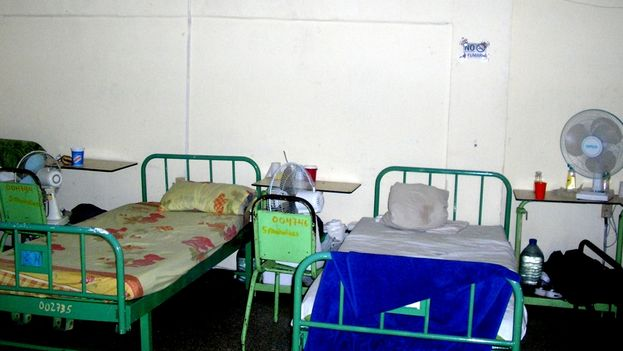 Patients' beds in the rehab ward of Santa Clara Psychiatric Hospital (Photo: Héctor Reyes)