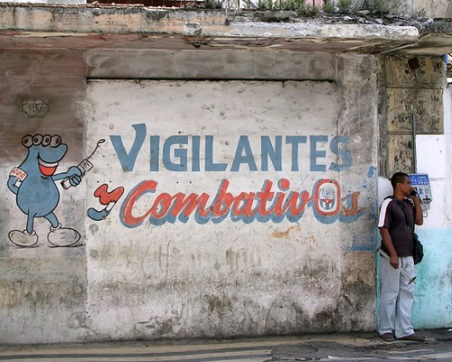 """Combative vigilants."" Sign about the CDR (photo from the internet)"