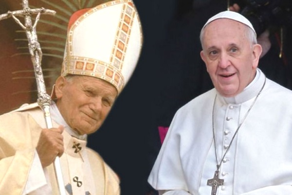 John Paul II and Francis (internet photo)