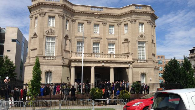 The new embassy of Cuba in the USA. (14ymedio)