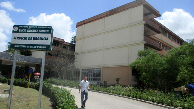 Lucia Iniguez Landin Surgical Hospital Clinic, one of those denounced for burying biological wastes in the Holguin cemetery. (14ymedio)