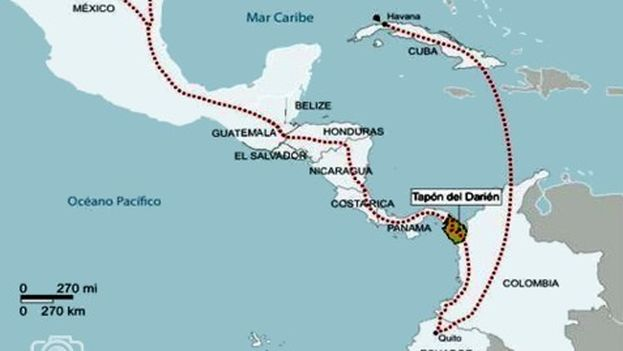 The route of migration for Cubans. (Reportero24)