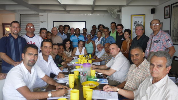 Opponents gathered at the Civil Society Open Forum at its meeting on Thursday 16 July. (14ymedio)