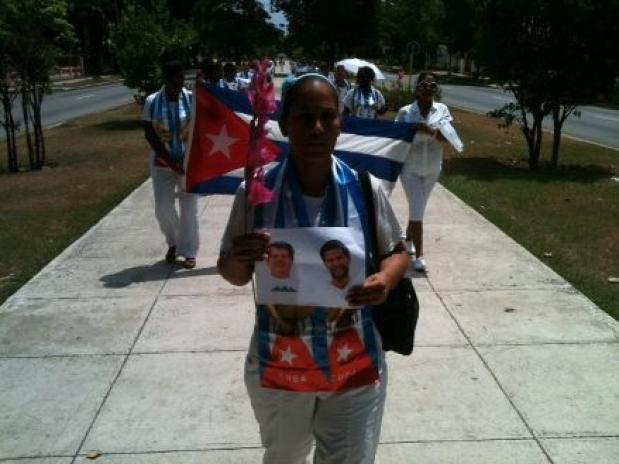 Ladies in White marching this past Sunday, 26 July*, in Havana (Ángel Moya)