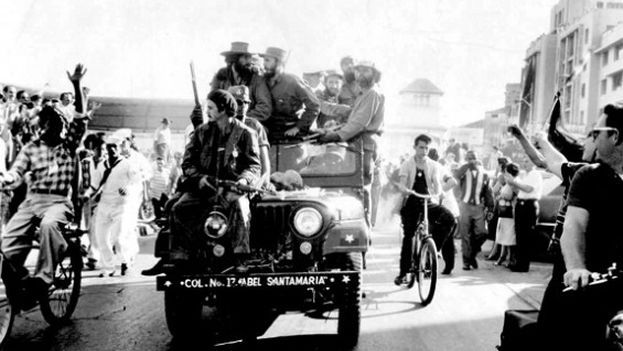 8 -- Fidel Castro entering Havana on January 8, 1959