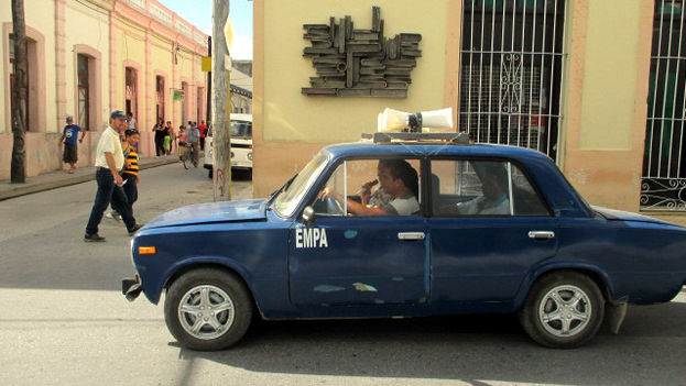 Auto announcing the measures against the threat of epidemics in Holguin. (14ymedio)