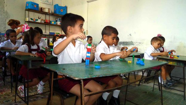 Preschool classroom of a primary school in Holguin. (Fernando Donate)