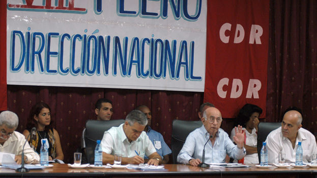 Machado Ventura in 2012, at the eighth plenary session of the 1st National CDR Directorate. (JCG)