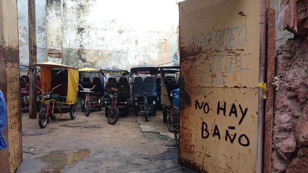 Pedicab parking lot in Havana. (14ymedio)