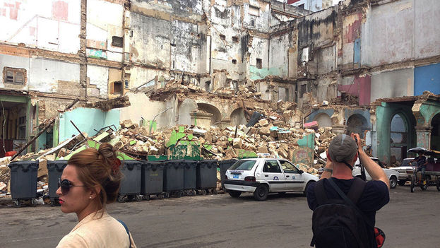 Ruins at Prado and Teniente Rey, the 'in corner.' (14ymedio)