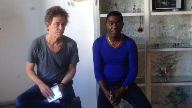 Guitarist Dominic Miller and Cuban musician Manolito Simonet. (14ymedio)