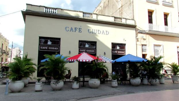 Facade of the Café Ciudad in Camaguey. (14ymedio)