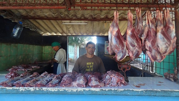 Meat for sale in the market in Camagüey. (Sun Basulto Garcia)